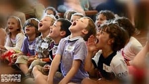 Children loving the original Science Party